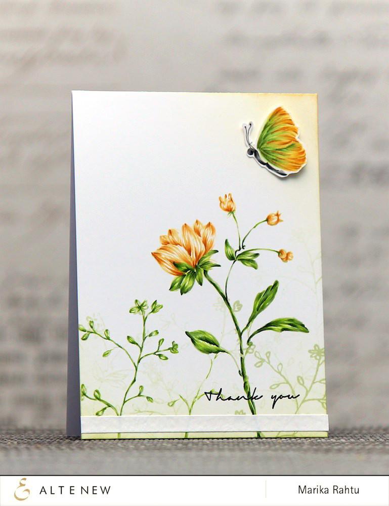 Набор штампов  Botanical garden