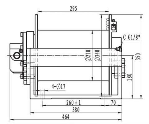 Эвакуационная лебедка IYJ2.52.5-40-72-13-ZPNL