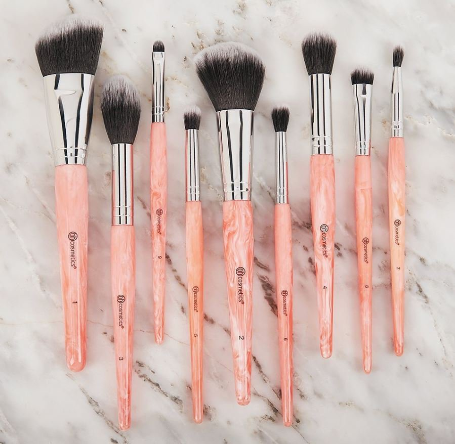 BH Cosmetics Rose Quartz 9 piece brush set