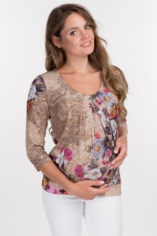 Джемпер для беременных 01823 разноцветный