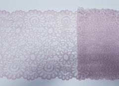 Эластичное кружево (ромашки), 20см, пудрово-розовый