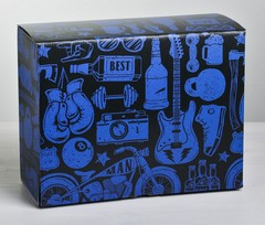 Коробка‒пенал «Лучшему мужчине», 30 × 23 × 12 см, 1 шт.