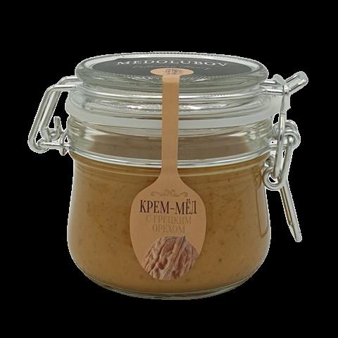 Крем-мёд с Грецким орехом бугельная банка МЕДОЛЮБОВ, 250 мл