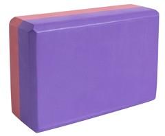 Блок для йоги Ironmaster бордовый-фиолетовый - 2
