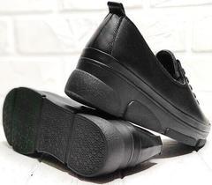 Черные туфли кроссовки с черной подошвой женские Mario Muzi 1350-20 Black.