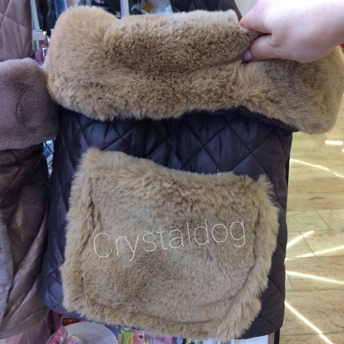теплая сумка слинг для собак