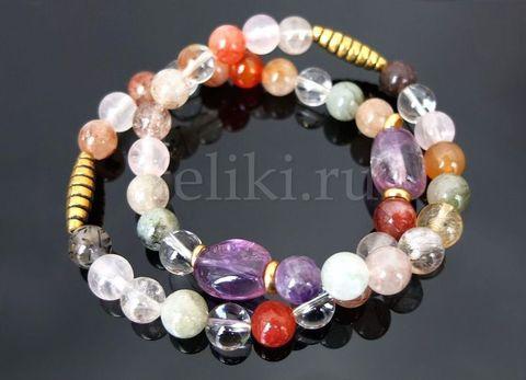 комплект браслетов из кварца_фото