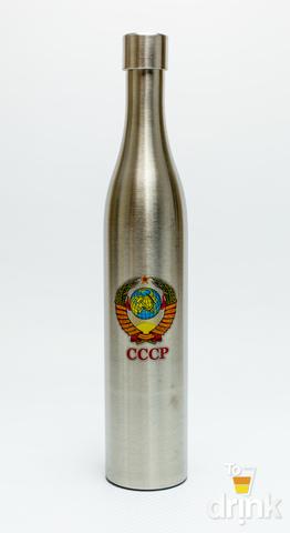 Фляга бутылка «СССР», в коричневом кожанном чехле, 800 мл
