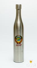 Фляга бутылка «СССР», в коричневом кожанном чехле, 800 мл, фото 3
