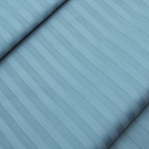 Страйп сатин полоса 1х1 см 160 см 135 гр/м2 цвет 906 голубой