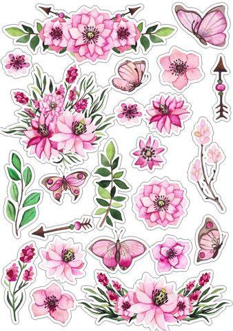 Печать на вафельной бумаге, Набор цветы 3