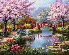 Алмазная Мозаика + Багет 40x50 Мост над рекой