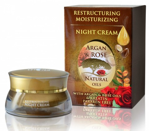 Обновляющий ночной крем с аргановым маслом, 50 мл.