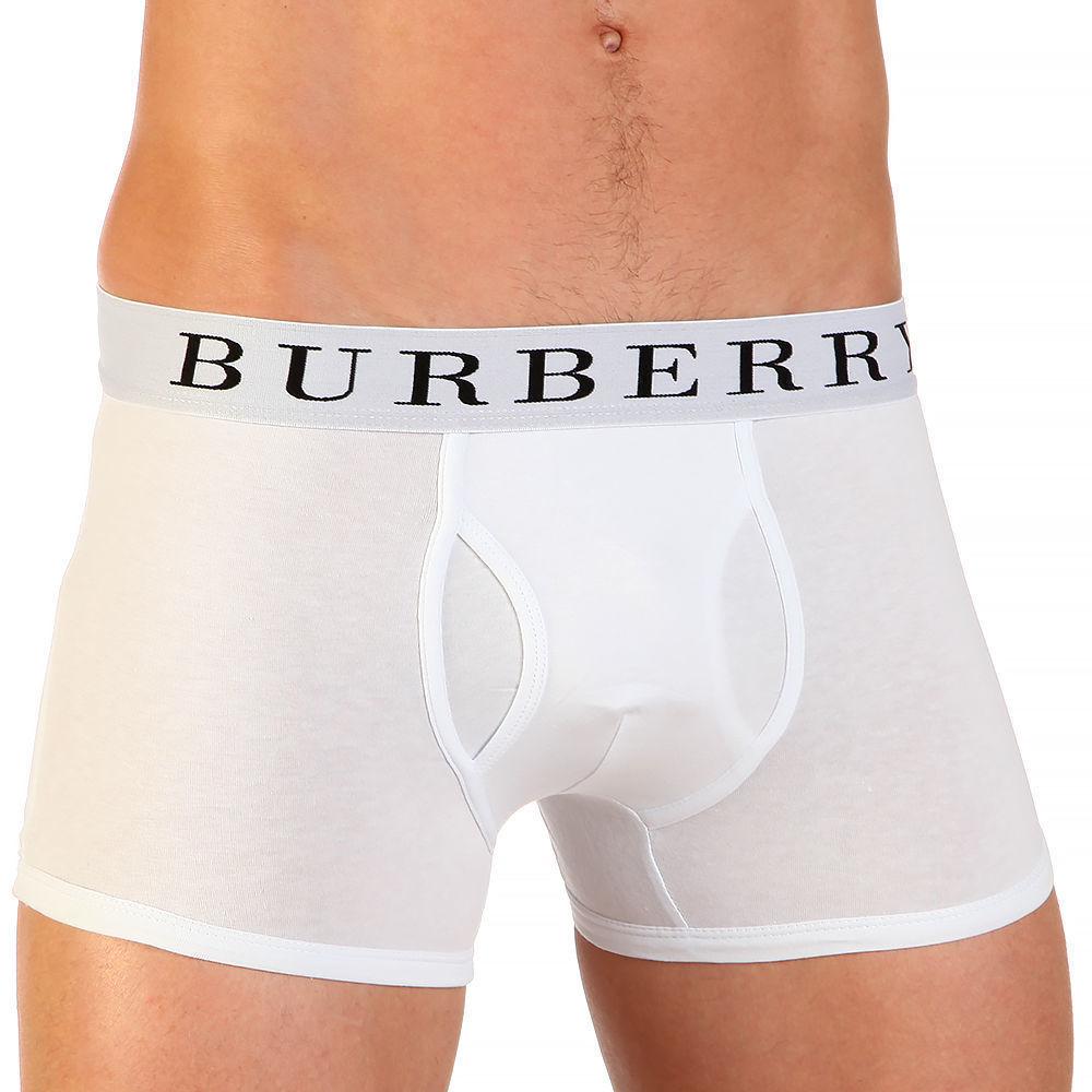 Мужские трусы боксеры белые Burberry