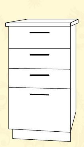 ШНЯ 400 Шкаф нижний с ящиками