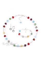 Комплект Carnavale Argento (серебристые серьги на серебре, ожерелье, браслет)