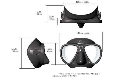 Маска подводная Riffe Nekton – 88003332291 изображение 2