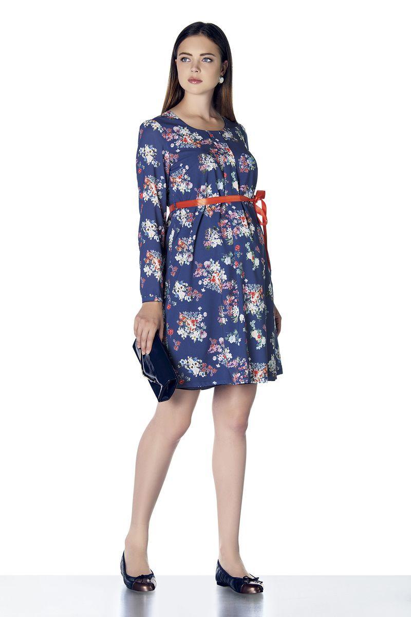 Платье для беременных 07918 синий