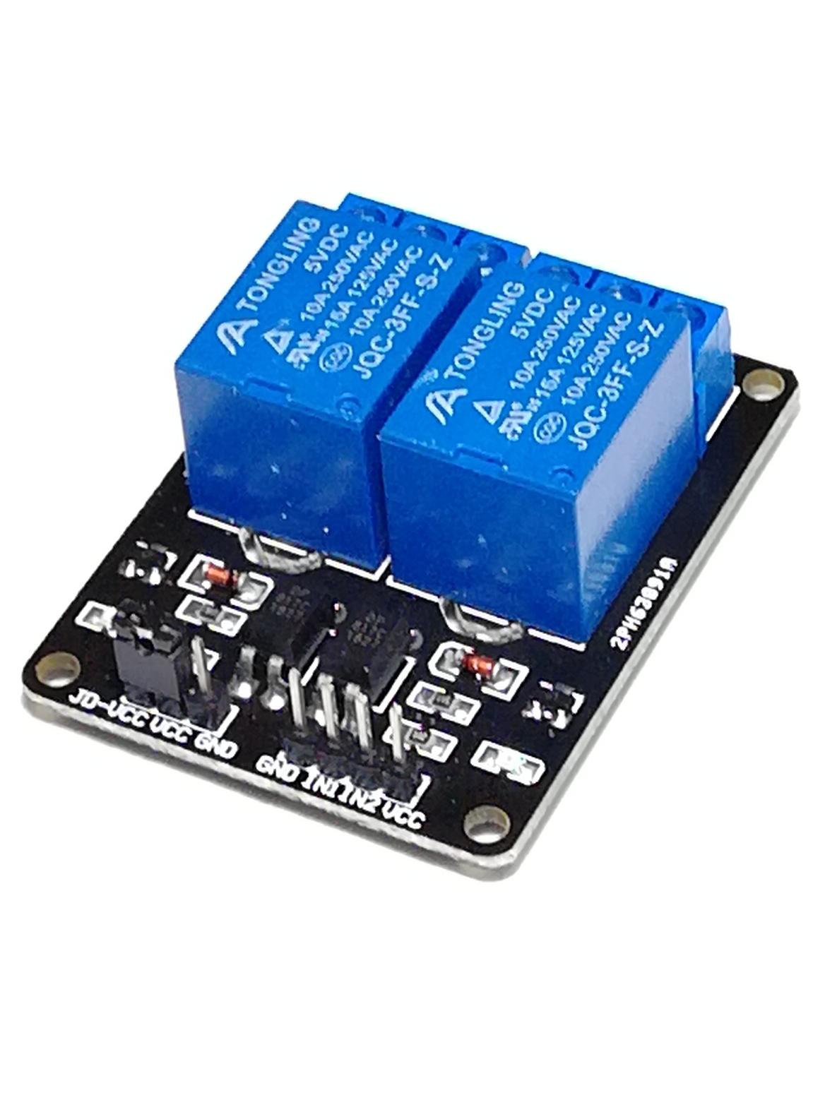 Релейный модуль 2 канала 5В (LOW)
