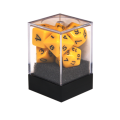 Набор разногранных желтых кубиков