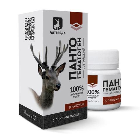 Пантогематоген алтайский Алтаведъ, 30 капсул