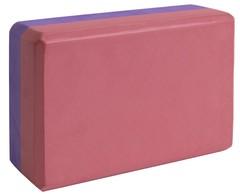 Блок для йоги Ironmaster бордовый-фиолетовый