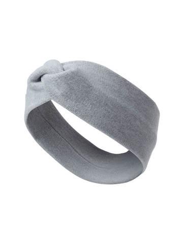 Женская повязка на голову серого цвета из вискозы - фото 1