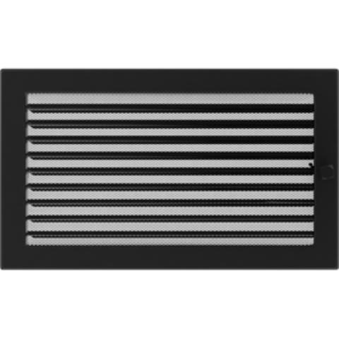 Вентиляционная решетка Черная с задвижкой (22*37) 22/37CX