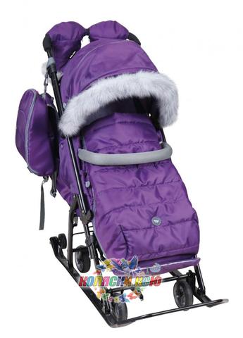 Санки-коляска «Ника детям» 7-5S фиолетовые