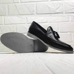 Модные мужские лоферы туфли черные Luciano Bellini 91178-E-212 Black.