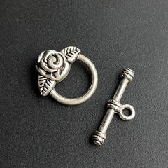 Замок тогл Розочка цвет серебро