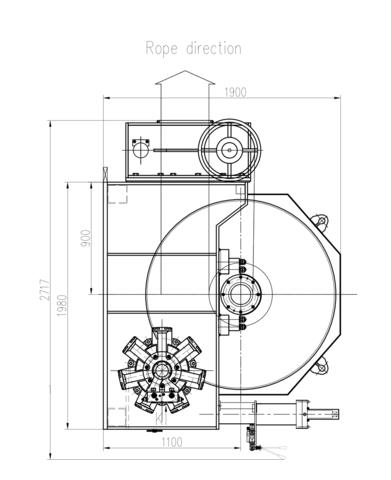 Стандартная лебедка IYJK12-300-800-30-Z