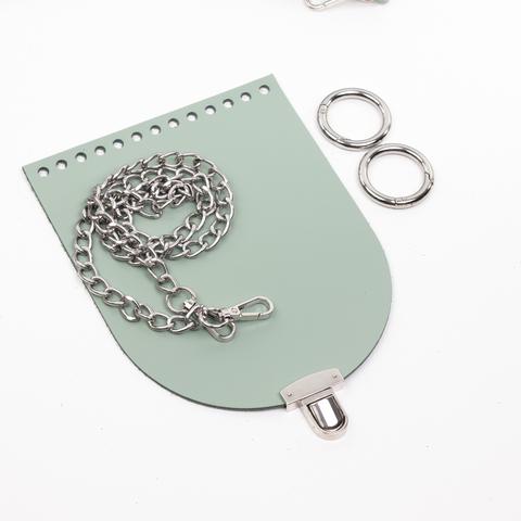 "Комплект для сумочки Орео ""Фисташка"". Цепочка и замок ""N12"""