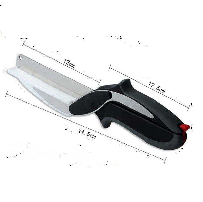 Умный кухонный нож - ножницы Clever Cutter - Клевер Каттер - для резки продуктов 2 в 1