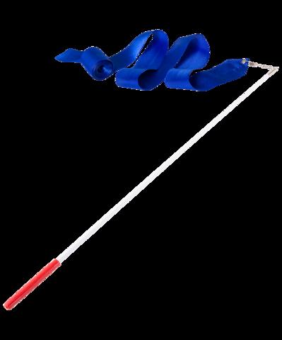 Лента для художественной гимнастики AGR-201 4м, с палочкой 46 см, синий