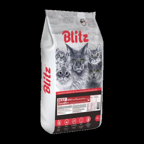 Blitz Adult Сухой корм для взрослых кошек с Говядиной
