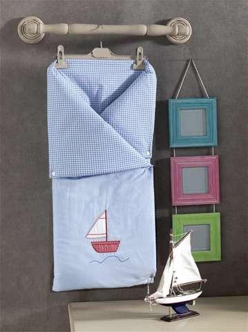 """Трансформер одеяло/конверт, """"BLUE MARINE"""" 100% хлопок/наполнение  100% полиэстер (стандарт)"""