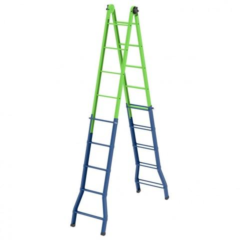 Лестница - стремянка –трансформер, 148 см-44 см/220 см-448 см, Россия, Сибртех