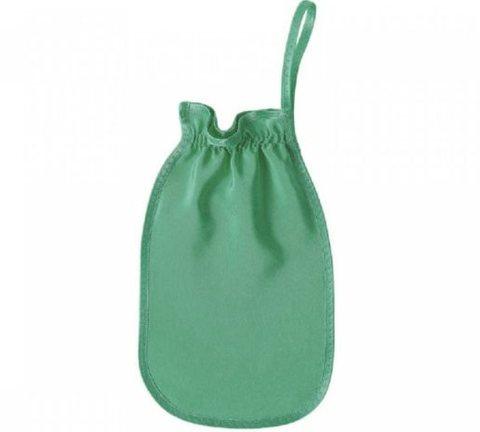 Пилинг-варежка для тела из 100% шелка XXL Изумруд (Шелковица)