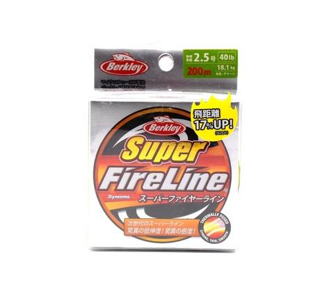 Плетеная леска Berkley Super Fireline Colored Разноцветная 200 м. 2,5 РЕ 18,1 кг., 10м х 5colors (Японский рынок) (1324497)