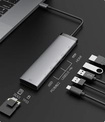 Концентратор Xiaomi MIIIW 7 в 1 Type-C - HDMI/USB 3.0/TF/SD Card Reader/ PD