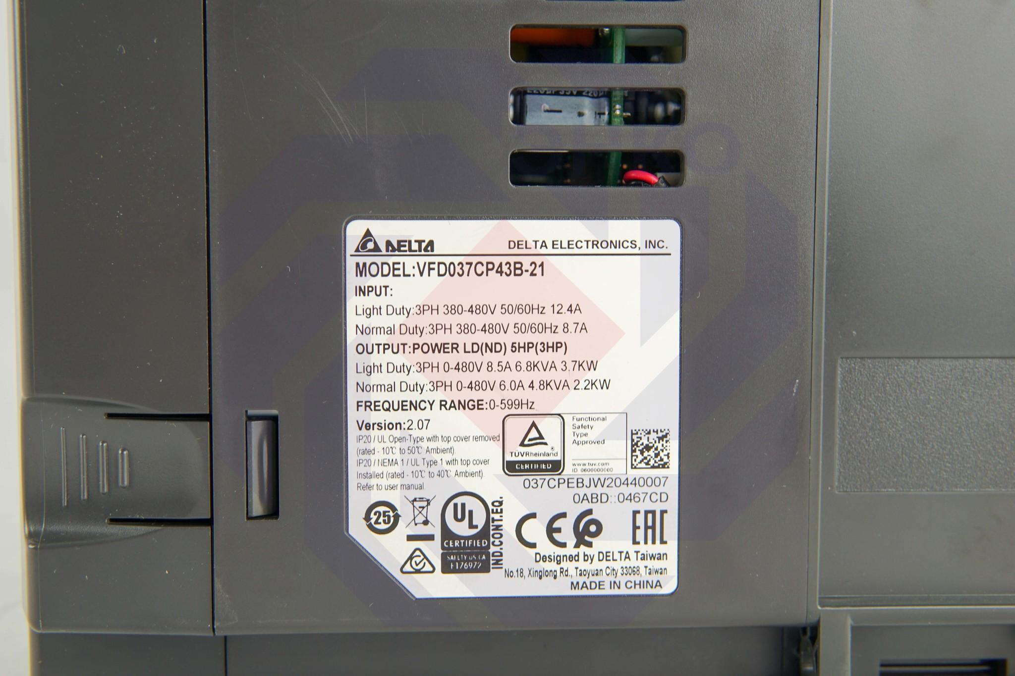 Преобразователь частоты DELTA CP2000 3,7 кВт