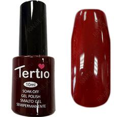 TERТIO ГЕЛЬ ЛАК Т 089 цвет спелой черешни, без блесток и перламутра, плотный.