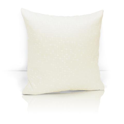 Подушка декоративная из двустороннего жаккарда Домино светло-бежевый