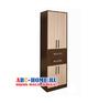 Прихожая Диана-4 секция № 09 Шкаф комбинированный (венге/дуб молочный), ЛДСП, Росток