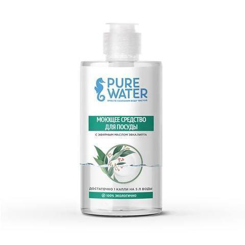 Средство для посуды Pure Water с эфирным маслом эвкалипта 450 мл (PURE WATER)