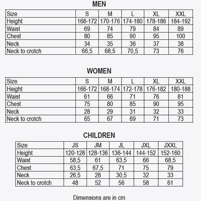 Wetsuit full length neoprene 3:2mm