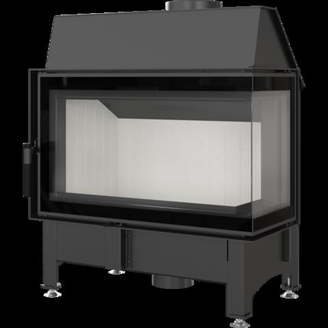 Каминная топка Kratki Zibi/P/BS/DECO (угловое стекло справа) (11 кВт)