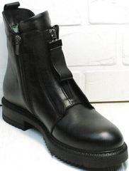 Кожаные ботинки демисезонные женские Tina Shoes 292-01 Black.