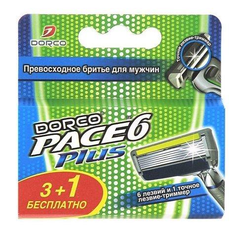 Dorco PACE 6 Plus Сменные кассеты стриммером для бритвенной системы 3+1 шт